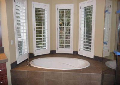 Deck mount tile tub