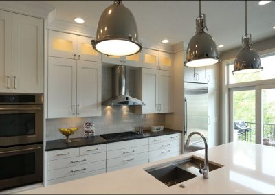 modern kitchen remodel with white accents