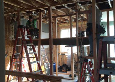 contractors during complete kitchen remodel