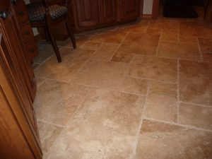 travertine versi kitchen floor