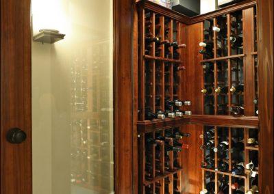 custom kitchen wine cellar